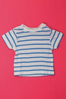 vetements d occasion bébé Tee-shirt manches courtes rayé Grain de Blé 1 mois Grain de Blé