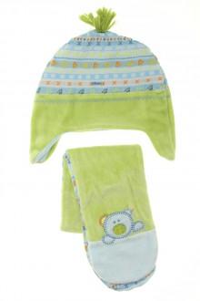 vêtements bébés Ensemble en velours chapka et écharpe Absorba 12 mois Absorba