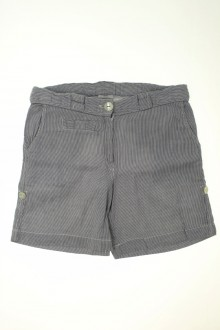 vetements enfant occasion Short à fines rayures Cyrillus 10 ans Cyrillus