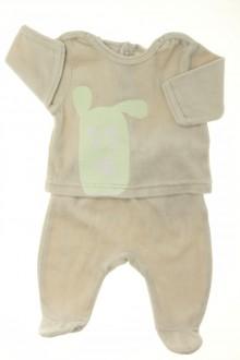 habits bébé Pyjama à pieds en velours Vertbaudet Naissance Vertbaudet