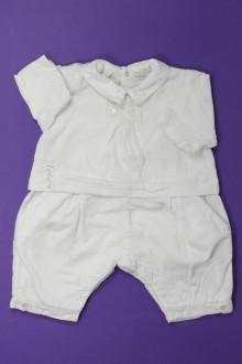 habits bébé Combinaison en velours fin Jean Bourget 1 mois Jean Bourget