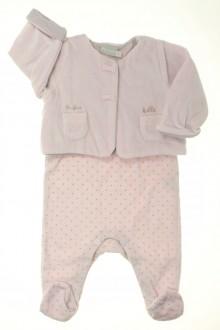 vêtements bébés Ensemble dors-bien et brassière Natalys 3 mois Natalys