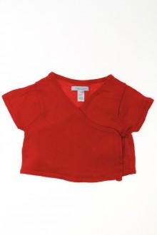 habits bébé Cache-cœur manches courtes Obaïbi 9 mois Obaïbi
