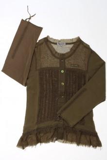 vetement occasion enfants Tee-shirt manches longues boutonné Eliane et Léna 5 ans Eliane et Léna