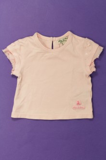habits bébé occasion Tee-shirt manches courtes Eliane et Léna 3 mois Eliane et Léna