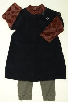 Habits pour bébé Ensemble robe, sous-pull et legging Vertbaudet 18 mois Vertbaudet