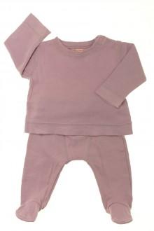 vêtements bébés Ensemble tee-shirt et legging avec pieds DPAM 3 mois DPAM