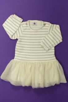 Habit d'occasion pour bébé Robe bi-matière Petit Bateau 6 mois Petit Bateau