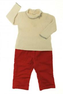 vêtements bébés Ensemble jean de couleur et col roulé Jacadi 6 mois  Jacadi