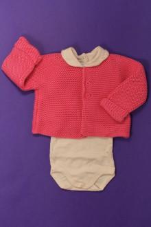 vêtements bébés Ensemble gilet et body Petit Bateau 6 mois Petit Bateau