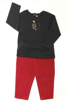 vetement bébé d occasion Ensemble pantalon et tee-shirt Cadet Rousselle 18 mois Cadet Rousselle