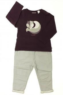 Habit d'occasion pour bébé Ensemble pantalon et tee-shirt Obaïbi 18 mois Obaïbi