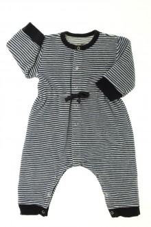 Habit de bébé d'occasion Pyjama/Dors-bien en velours milleraies Petit Bateau 6 mois Petit Bateau