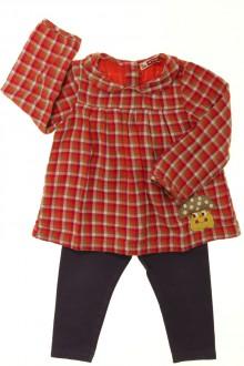 habits bébé occasion Ensemble blouse et legging DPAM 18 mois DPAM