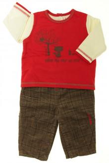 Habit de bébé d'occasion Ensemble pantalon et tee-shirt Sucre d'Orge 9 mois Sucre d'Orge