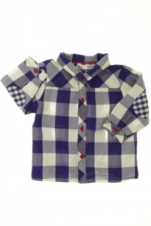 Habits pour bébé Chemise à carreaux DPAM 3 mois DPAM