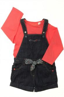 Habits pour bébé occasion Ensemble salopette en jean et tee-shirt Obaïbi 18 mois Obaïbi