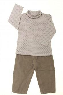 Habit de bébé d'occasion Ensemble pantalon et sous-pull Grain de Blé 18 mois Grain de Blé