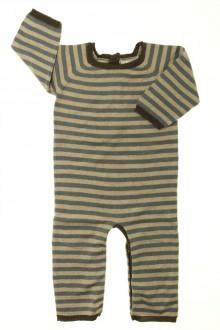 vêtements bébés Combinaison en maille rayée Bout'Chou 6 mois Bout'Chou