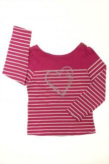 vetement occasion enfants Tee-shirt manches longues rayé Vertbaudet 8 ans Vertbaudet
