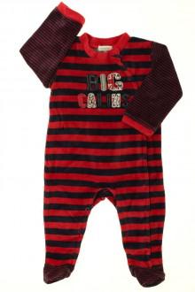 vetement bébé d occasion Pyjama/Dors-bien rayé en velours Absorba 9 mois Absorba