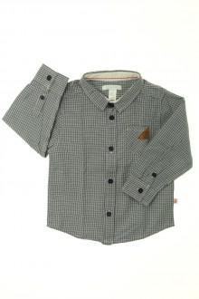 habits bébé occasion Chemise à petits carreaux Obaïbi 18 mois Obaïbi