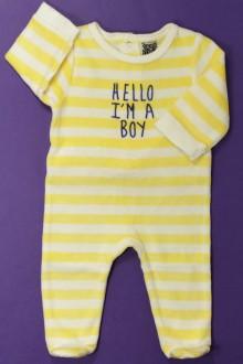 Habit d'occasion pour bébé Pyjama/Dors-bien rayé en velours Tape à l'œil 3 mois Tape à l'œil