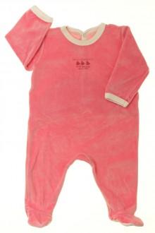 Habit de bébé d'occasion Pyjama/Dors-bien en velours Petit Bateau 6 mois Petit Bateau