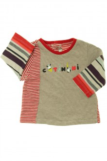 vetements d occasion bébé Tee-shirt rayé manches longues  Catimini 3 mois Catimini