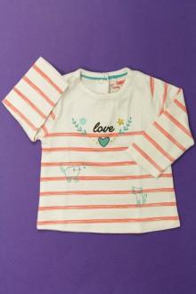 Habit de bébé d'occasion Tee-shirt manches longues rayé