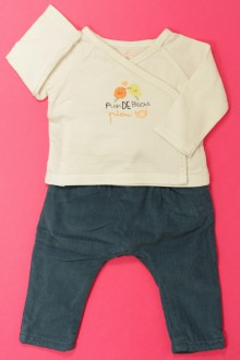 Habits pour bébé occasion Ensemble sarouhel et cache-cœur Tape à l'œil 3 mois Tape à l'œil
