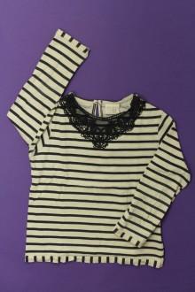 vêtement enfant occasion Tee-shirt manches longues rayé Zara 4 ans Zara