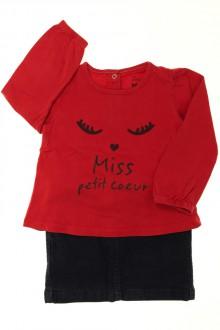 vetements enfants d occasion Ensemble jupe et tee-shirt Tape à l'œil 2 ans Tape à l'œil