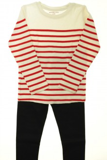 vêtements occasion enfants Ensemble marinière et legging Monoprix 5 ans Monoprix