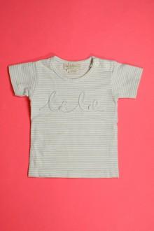 vetements d occasion bébé Tee-shirt manches courtes milleraies Les Bébés de Floriane 1 mois Les Bébés de Floriane
