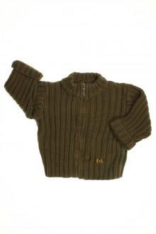 habits bébé occasion Gilet épais zippé Eliane et Lena 6 mois Eliane et Léna