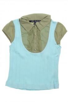 Tee-shirt trompe l'œil à manches courtes d'occasion de la marque Lili Gaufrette en taille 4 ans Lili Gaufrette