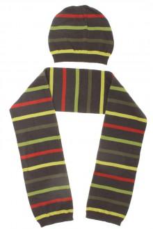 vêtements d occasion enfants Ensemble écharpe et bonnet rayés DPAM 6 ans DPAM