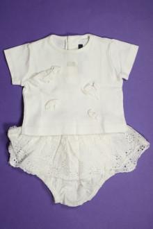 Habits pour bébé Ensemble tee-shirt et bloomer Lili Gaufrette 3 mois Lili Gaufrette