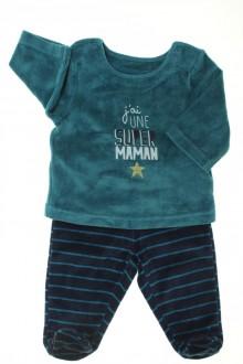 vetement bébé d occasion Pyjama à pieds en velours