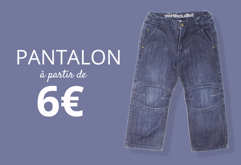 Pantalon pour enfants à partir de 6€