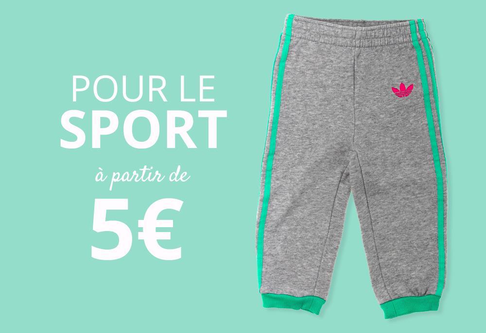 Vêtements pour le sport à partir de 5€