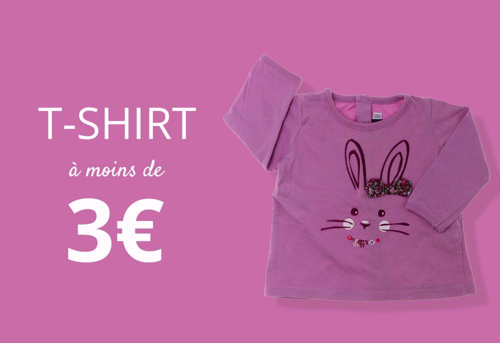 T-shirts pour enfants à moins de 3€
